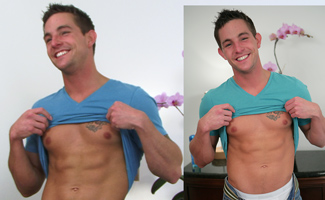 BONUS VIDEO of Cocky Young Hunk Lance's Photo Shoot Sampling Many Dildo's!