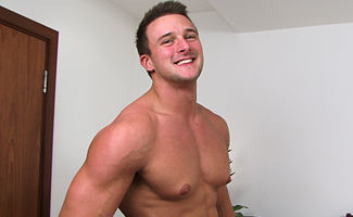 Hunky Straight Rugby Stud Drew Daniels gets Manhandled & Wanked to Cum Shot