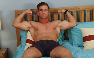 Straight Muscular PT Frankie Foster gets Manhandled and Shoots a Massive Load!