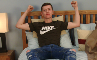 Young Lad Joe Appleton is Young & Athletic with a very Stiff Uncut Cock!